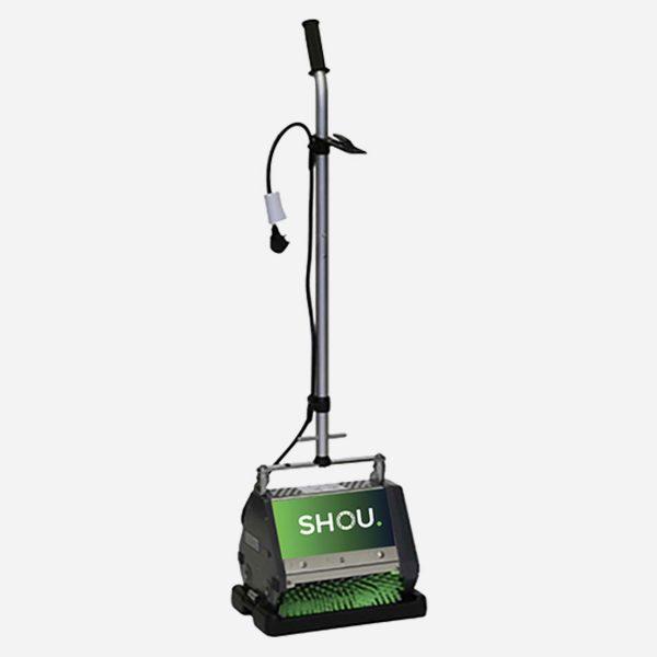airplane cabin carpet cleaning Shou Solution brush machine