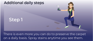 how to preserve airplane cabin carpets by stain removing