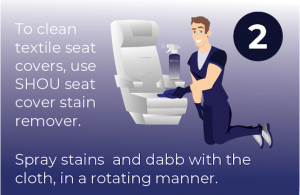 how to clean textile airplane seat covers and seats